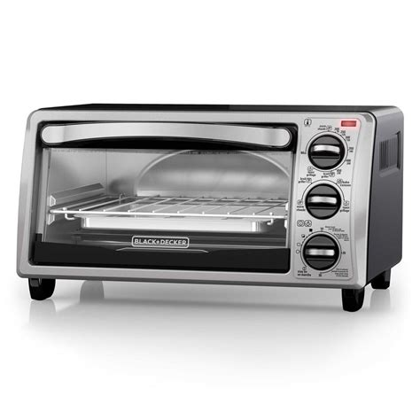 Black Toaster Oven by Black Decker 4 Slice Toaster Oven In Stainless Steel