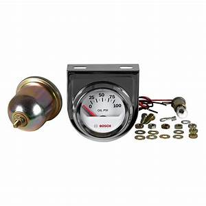 Electrical Oil Pressure Gauge Style Line Chrome Bosch