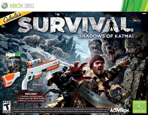cabelas survival shadows  katmai game top shot gun
