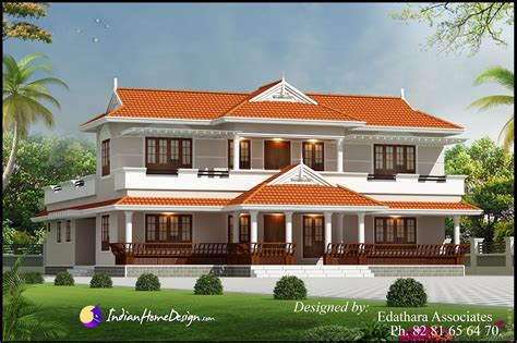 kerala style  sqft villa design traditional double