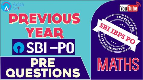 Sbi Po 2017  Previous Year Sbi Po Pre Questions  Maths  Online Coaching For Sbi Ibps Bank Po