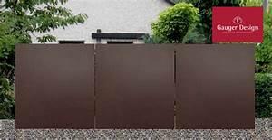 Edelstahl Sichtschutz Metall : sichtschutz und windschutz elemente aus cortenstahl und edelstahl ~ Orissabook.com Haus und Dekorationen