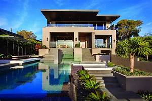 Contemporary, Home, In, Melbourne, With, Resort, Style, Modern, Landscaping
