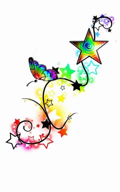 Tattoo Star Designs Stars Tattoos Rainbow Butterfly