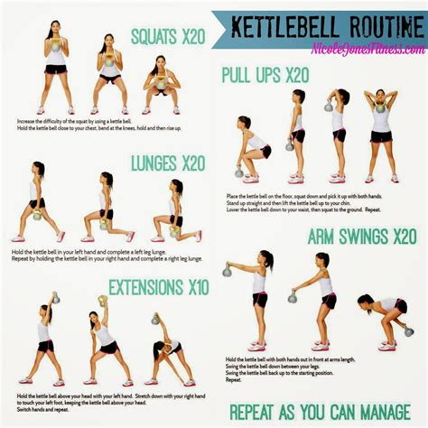 kettlebell workout body kettle bell circuit routine gym exercises workouts fitness routines training cardio challenge exercise required weight give try