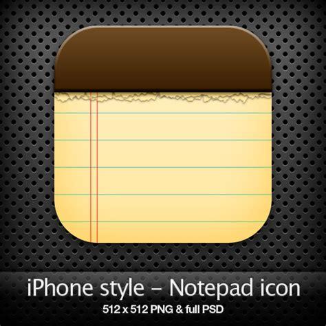 iphone notepad iphone style notepad icon by yaromanzarek on deviantart