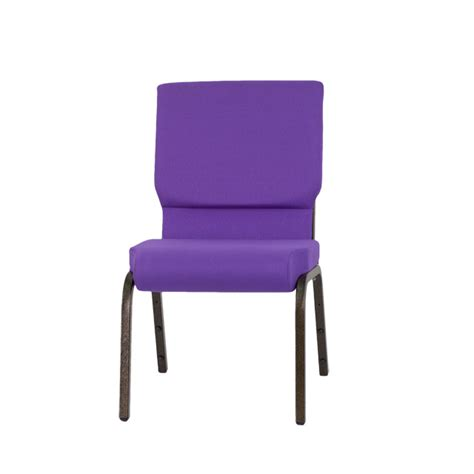 hercules series 18 5 w stacking church chair in purple