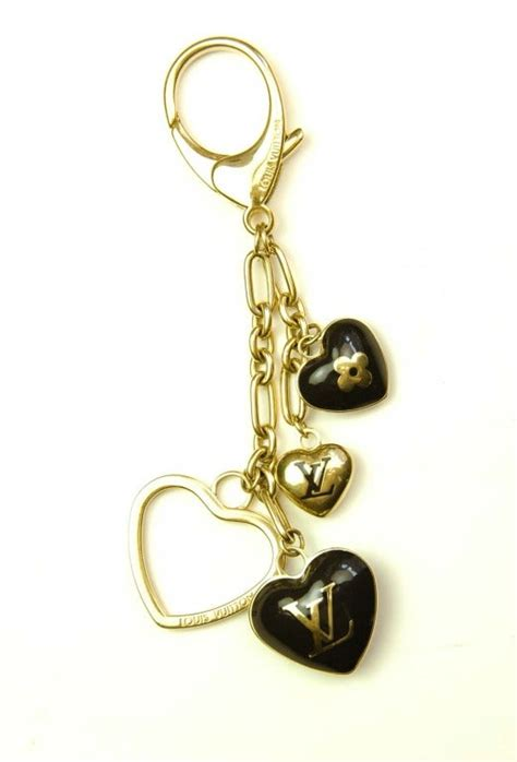 louis vuitton monogram heart bag charmkey fob  stdibs