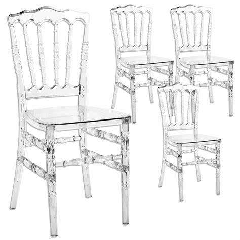 chaise en plexi deco in lot de 4 chaises transparent en plexi napoleon napoleon transparent x4