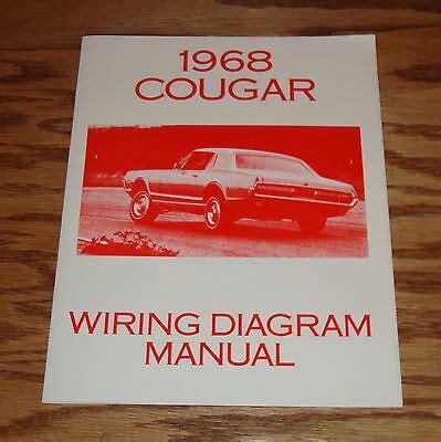 Mercury Cougar Wiring Diagram Manual Ebay