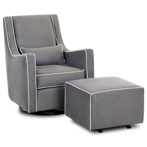 glider chair and ottoman klaussner chairs and accents contemporary lacey swivel