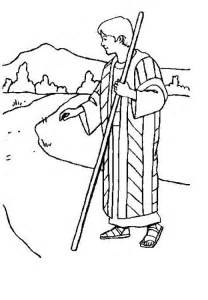 Joseph and Coat of Many Colors Coloring Page