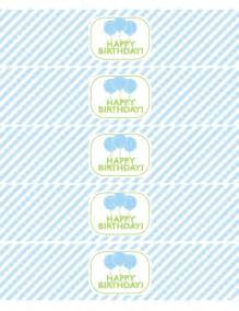 Free Printable Water Bottle Labels Green