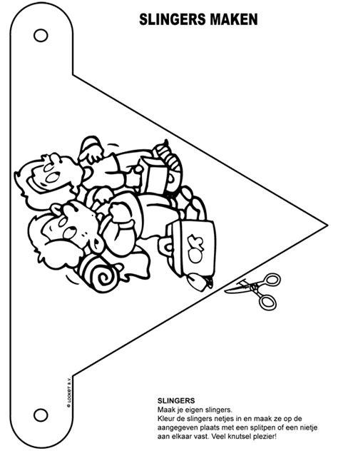 Kleurplaat Slinger Geboorte by Kleurplaat Slingers Op Reis Kleurplaten Nl