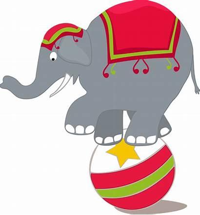 Circus Clipart Clown Clip Elephant Trapeze Artist