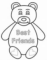 Coloring Pages Friend sketch template