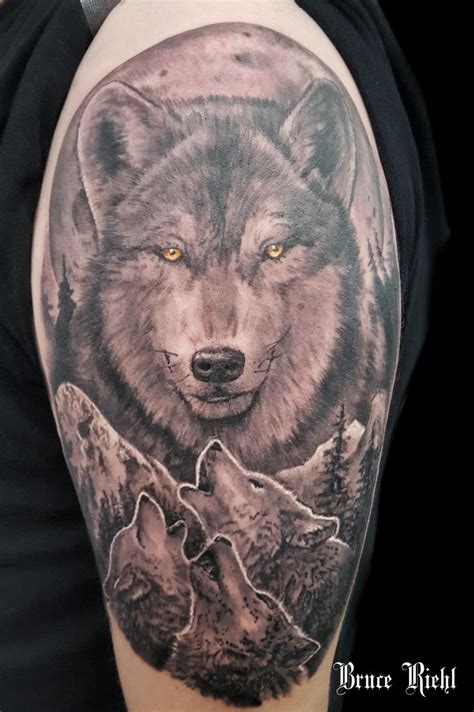 555 Best Awesome Wolf Tattoos Images On Pinterest Wolf