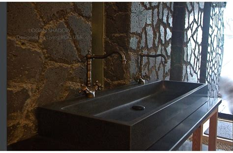 black granite vessel bathroom sinks 47 quot double bathroom sink black granite stone trough looan