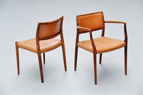 niels moller dining chairs model  rosewood denmark