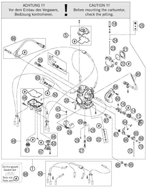 ktm fiche finder carburetor spare parts   ktm  exc aus