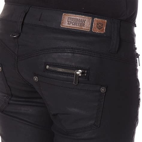 jean freeman porter femme coupe slim mod 232 le leather skin noir
