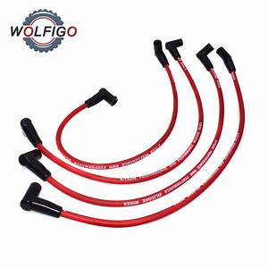 Wolfigo New 4pcs 8mm Spark Plug Wire Set Ignition Cables