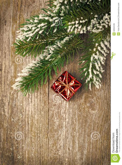 christmas vintage wooden background spruce branches