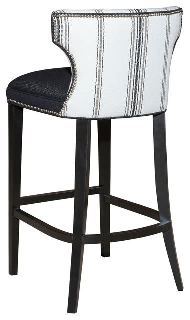 kathryn black and white back traditional bar stools