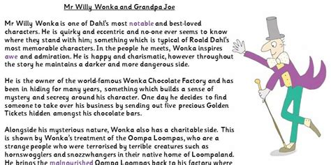 character analysis charlie   chocolate factory ym