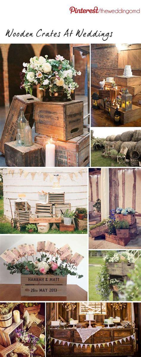 wooden crates at weddings wedding decoration inspiration