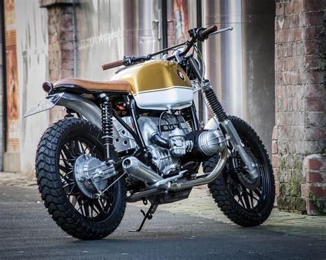 bmw motorcycle scrambler bmw r80 scrambler by down out bikebrewers com