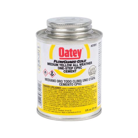 Oatey Flowguard Gold 8 Oz Cpvc 1step Cement3191131