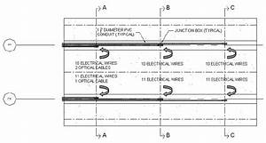 Plan View Of Pvc Conduit Embedded In The Test Bridge Deck