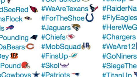 ranking   nfl teams  twitter hashtags  emojis