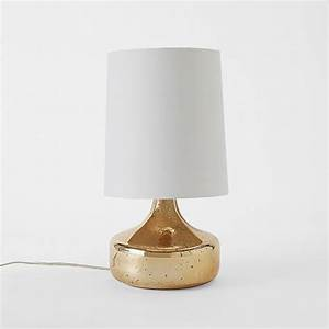 perch table lamp rose gold west elm design With perch table lamp yellow