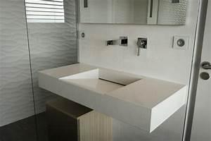 profondeur plan de travail salle de bain obasinccom With salle de bain design avec plan vasque marbre