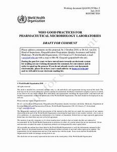 WHO Good Practices for Pharmaceutical Microbiology ...