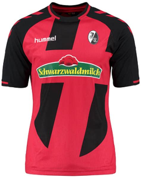 A tiger stripes pattern in dark red covers the entire front of the kit. Freiburg 16-17 Home and Away Kits Released - Footy Headlines