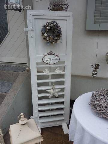 Fensterläden Holz Deko by Weisser Holz Fensterladen Shabby Chic Landhausstil Deko