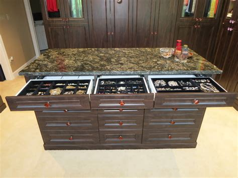 closets jewelry drawers and cabinets traditional