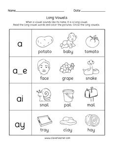 worksheets  kindergarten long  sound  worksheet