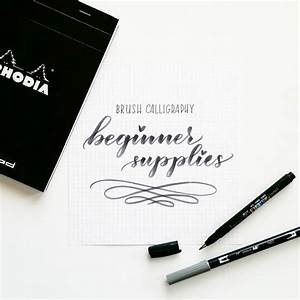 31 best calligraphy images on pinterest letter fonts With hand lettering supplies for beginners