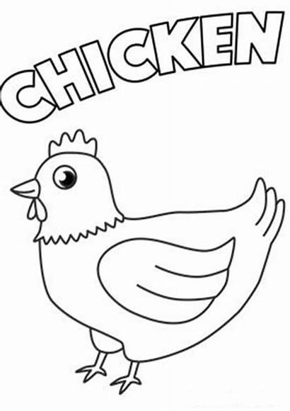 Chicken Coloring Tulamama Easy Preschool Printable Farm
