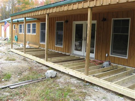 october 2007 building the porch deck framing downeast
