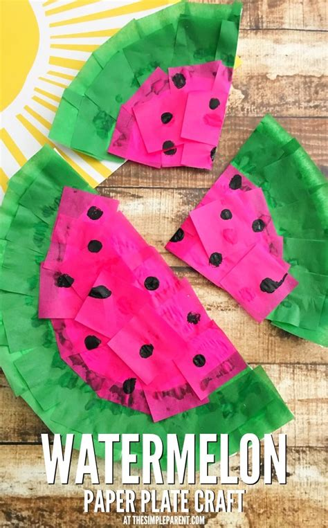 cute watermelon craft   paper plate