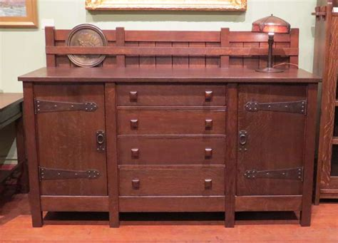 Stickley Sideboard For Sale by Early Gustav Stickley 8 Leg Sideboard Circa 1902