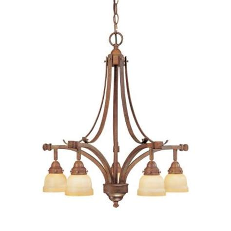 hton bay 5 light hanging walnut chandelier ec3225wal
