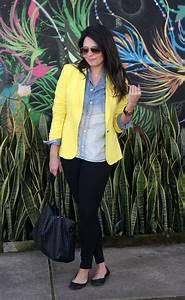 Look Camisa Jeans e Blazer Amarelo! | Claudinha Stoco - Blog de beleza moda e lifestyle