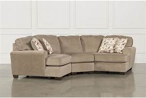 Patola Park 3 Piece Sectional W/2 Cuddlers - Living Spaces