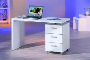 bureau blanc laqu bureau blanc laqué avec rangement comforium